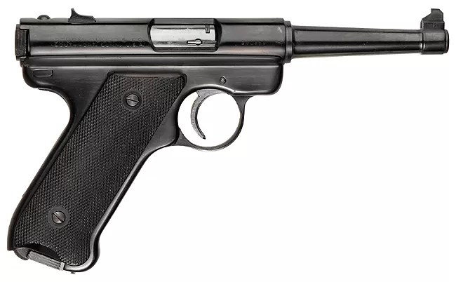 The Ruger MkI looks like a Luger but is actually based on the Japanese Nambu Type 14. It was the first in a popular line of .22LR sporting pistols.