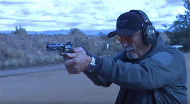 Ken Hackathorn shooting a Python .357.