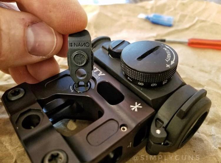Multitasker NANO adjusting optic turret and mount.