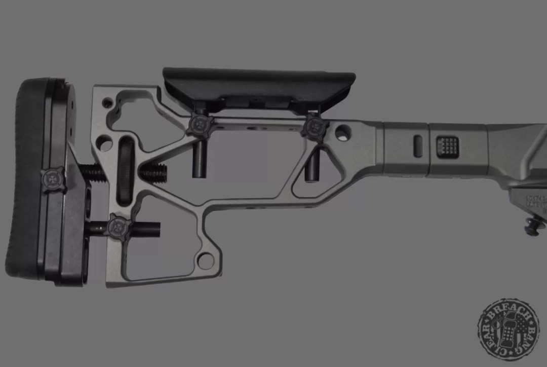 The MDT ACC XTN interface with SRS-XF folding stock.