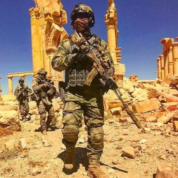 Russian special forces in Palmyra, Syria