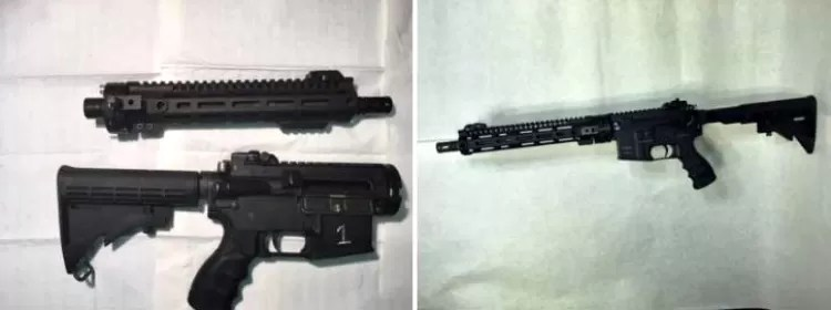 Survival rifle: The GAU-5A weighs under seven pounds can be put together in 30 seconds.