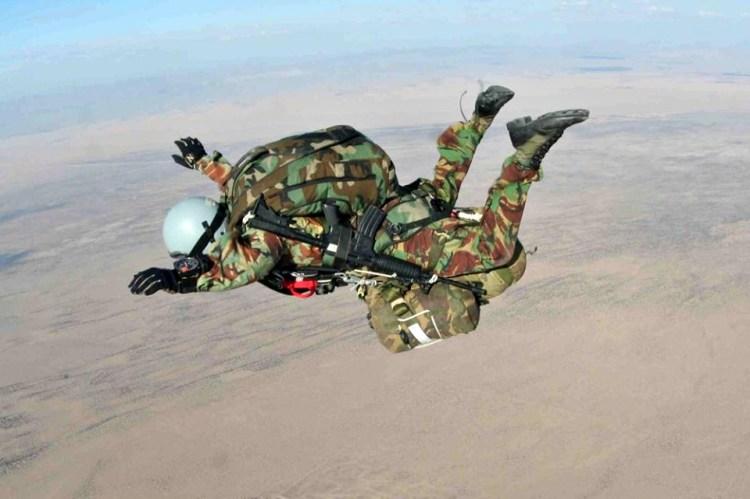 UK Para Regiment Pathfinder during HALO training