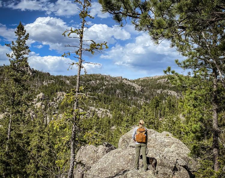 Nature hiking - South Dakota.
