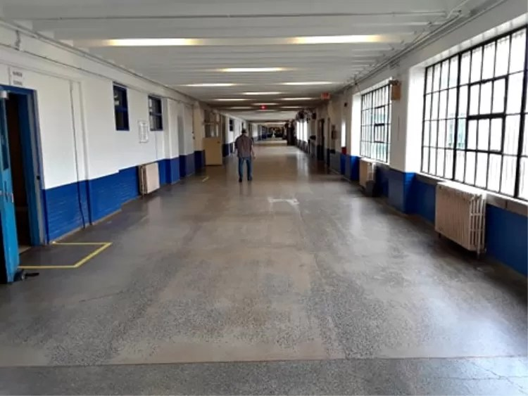 The main corridor of SCI was one-quarter of a mile long.