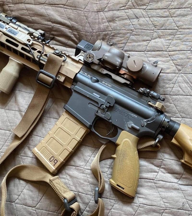 Properly configured HK416 CQB Carbine