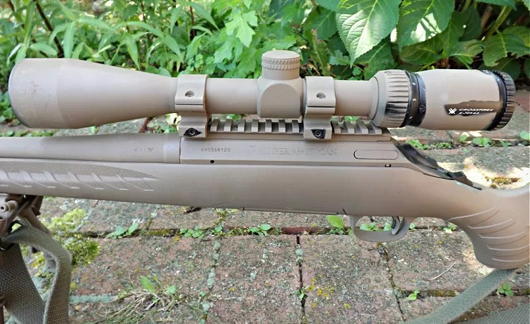 Ruger American Predator with Vortex Crossfire II 4-12x scope.