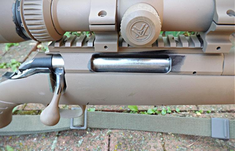 Ruger American Predator bolt handle, action, Picatinny Rail.