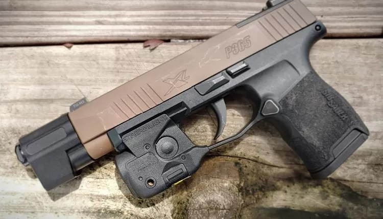 Sig Sauer P365 with Streamlight TLR 6 weapon light