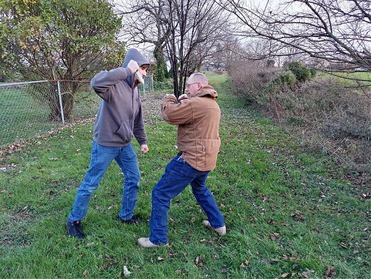 close quarter combat knife attack