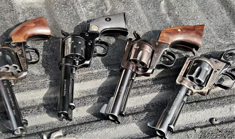 Chiappa with big-bore single action revolvers