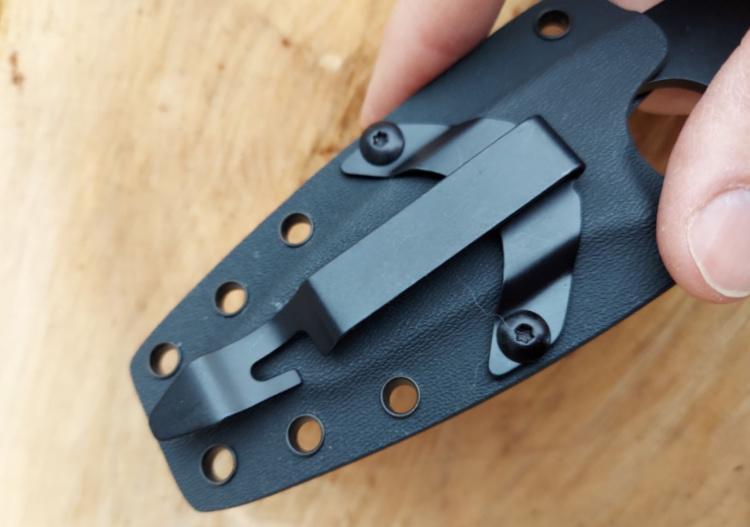 HR-fighting blade sheath mounting holes.