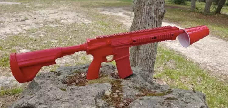 ASP HK 416 red gun