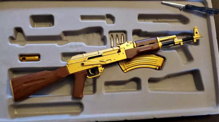 Goat Guns Golden AK-47 assembled