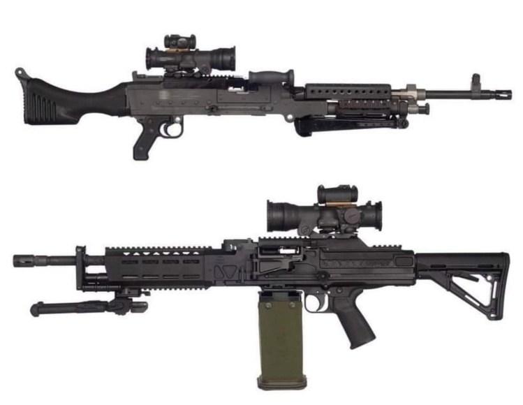 LMG (light machine gun) Reptlia mounts with optic