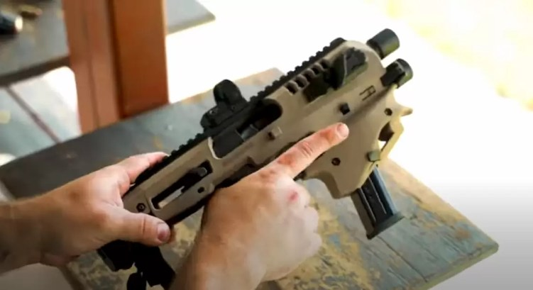 Converting a pistol to PDW with MCK TAC step 2