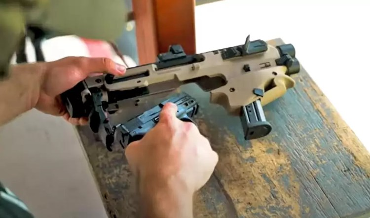 Converting a pistol to PDW with MCK TAC step 1