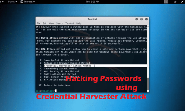 Hacking Passwords using Credential Harvester Attack