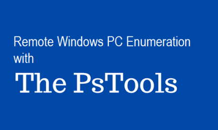 Remote Windows PC Enumeration with PSTools