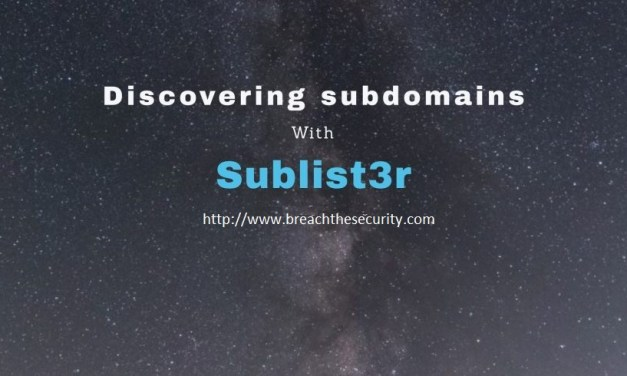 Discovering subdomains with Sublist3r