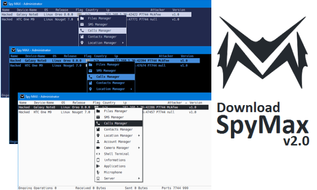 Download Spy MAX v2.0 – Android Remote Administration Tool