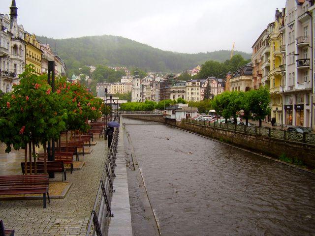 Karlovy Vary in the rain