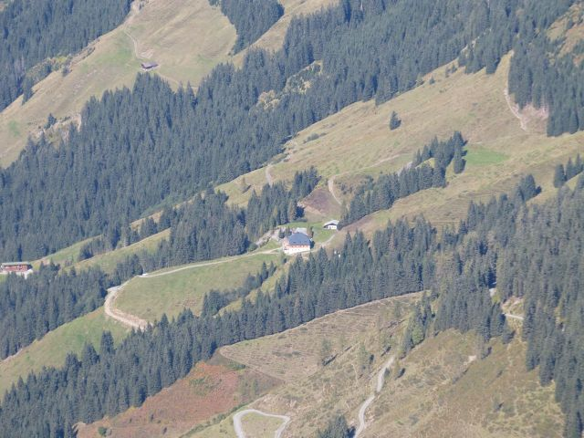 the Hütte from 7,000 ft