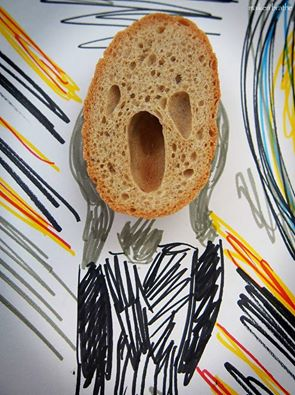 bread face screaming