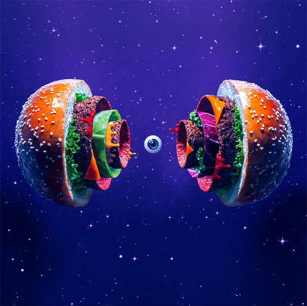 big bang burger illustration