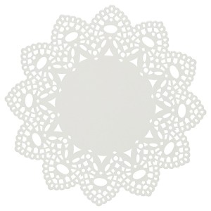 white metal doily trivet by Now Designs