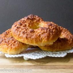 Kefir Milk Asiago Spelt Semolina Bagels #BreadBakingBabes