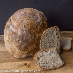 Fill the pot with Dutch Oven Emmer Bread