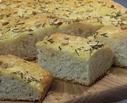 Rosemary and Pine Nut Focaccia