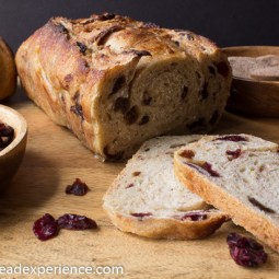 Rustic Sourdough Cinnamon Raisin Struan #BreadBakingBabes