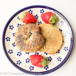 Sourdough Kefir Milk Bagels with Sprouted Wheat