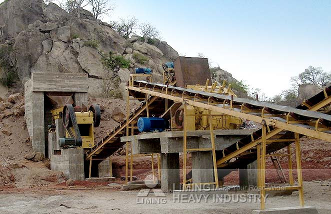 150-200TPH limestone production line in Mozambique