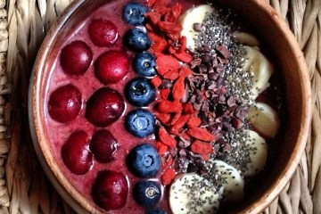 Raw Vegan Cherry Acai Bowl