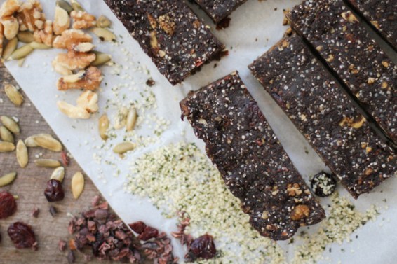 Chewy Superfood Hemp Protein Bars