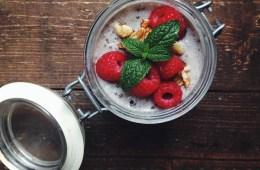 Vegan Berry Tahini Chia Pudding