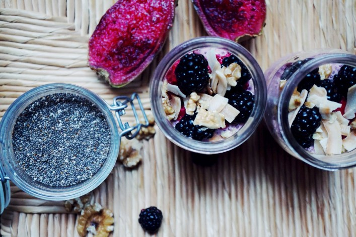 Dragon Fruit Berry Bliss Chia Pudding | Breakfast Criminals
