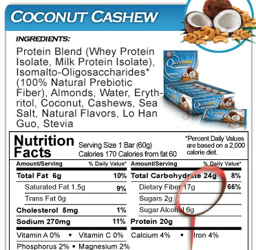 Quest nutrition bars ingredients