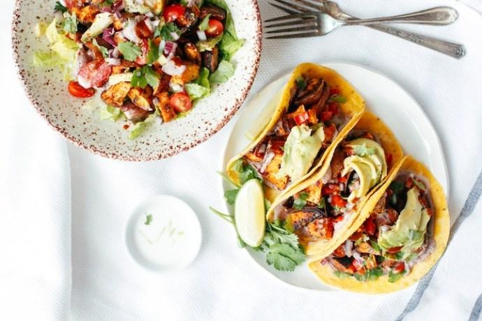 Sweet potato pecan tacos recipe