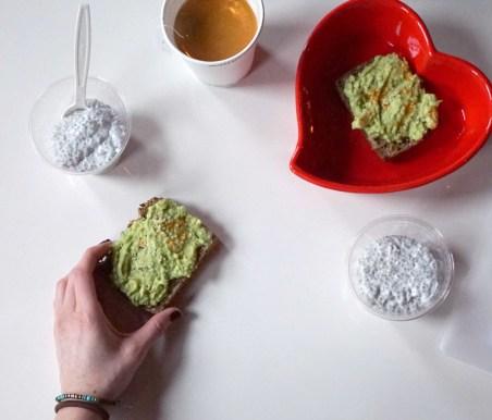 Heart bowl avocado toast