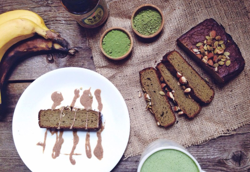 matcha banana bread