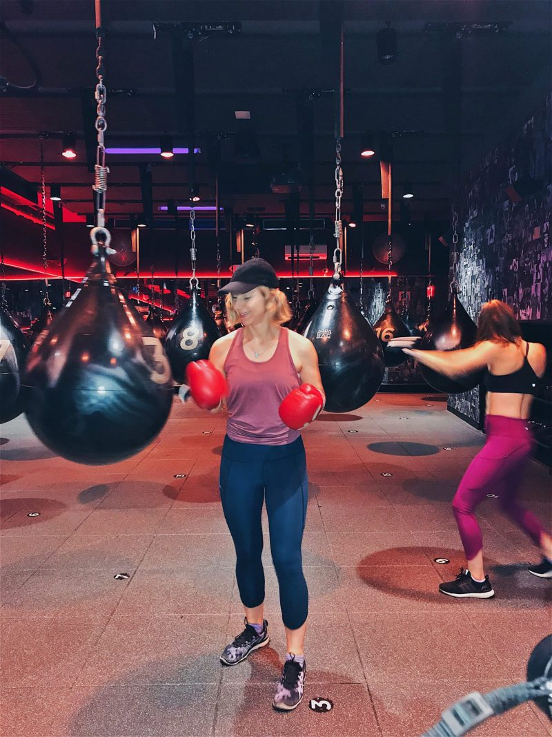 Rumble Boxing review with Athleta Up For Anything Tight