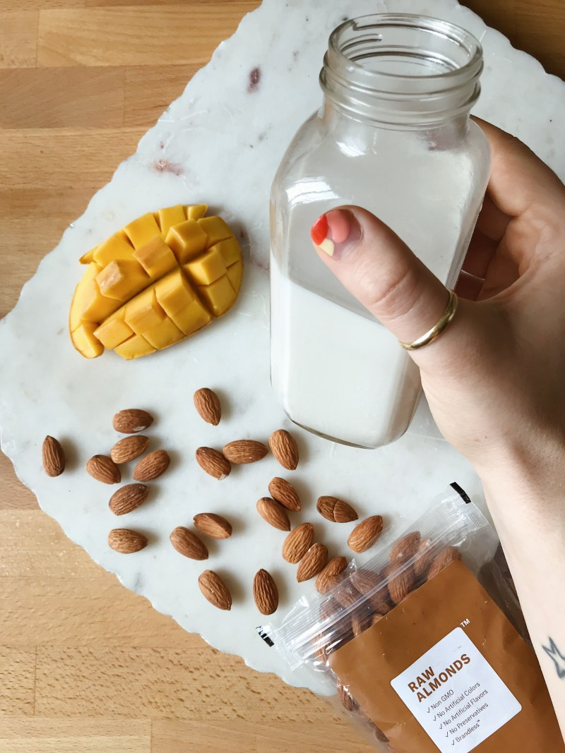 brandless review and secret homemade almond milk ingredient that