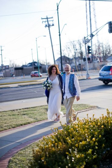 One of the problems of leaving the church is suddenly appearing on the street in full wedding attire