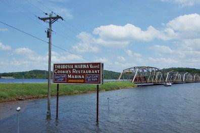 Highway 160 Bridge at Theodosia, Missouri. Copyright © 2011 Gary Allman, all rights reserved.