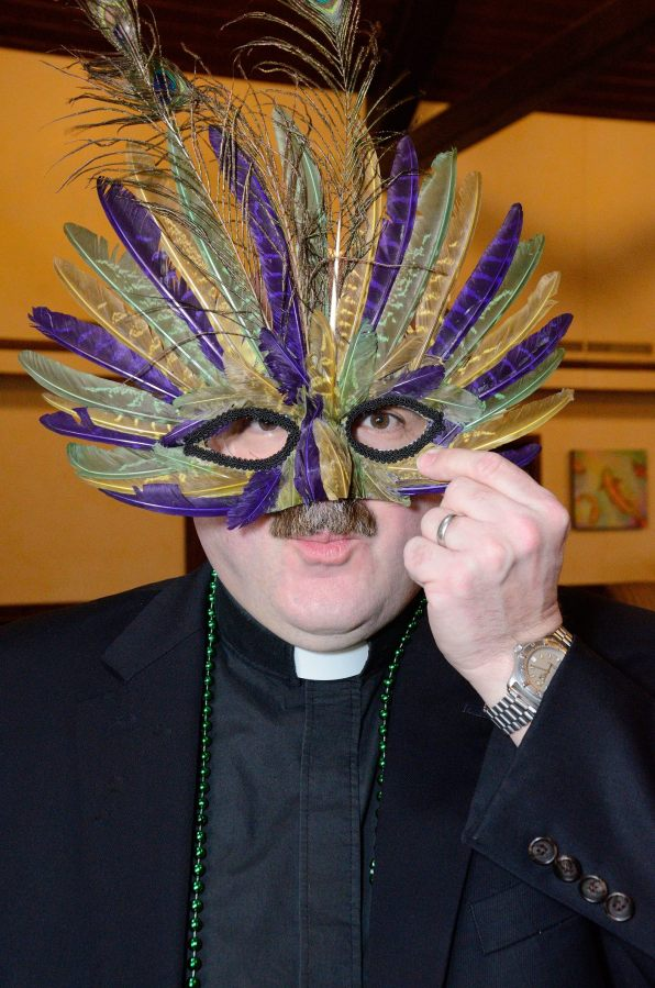 Fr. Jonathan just couldn't resist this mask.