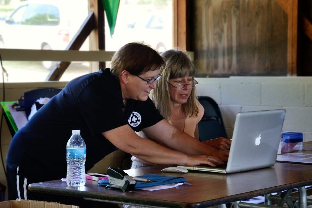 Picture of Kim Snodgrass of the Episcopal Dioces of West Missouri at Camp WeMo at Wakonda June 2013